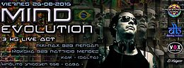 Party flyer: Mind Evolution (Womb Records) in Argentina 26 Aug '16, 23:30h