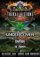 Party flyer: PSYBOX - *** TRIBAL VISIONS *** with UNDERCOVER / DARMA / SI MOON *live* 26 Aug '16, 22:00h