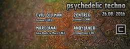 Party flyer: Psychedelic Techno 26 Aug '16, 23:00h