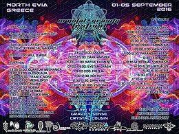 Party flyer: Crystal Gravity Festival 01-05 Sep 2016 1 Sep '16, 17:00h