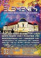 Party flyer: Elements Festival 3 Sep '16, 21:00h