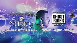 Party flyer: ॐInfinityॐ pres Ghost Rider (Sala 2) - 03.09.2k16 3 Sep '16, 23:30h