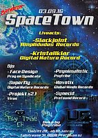 Party flyer: Spacetown 3 Sep '16, 22:00h