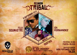 Party flyer: Reunion Tribal 9 Sep '16, 22:00h