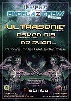 Party flyer: ENCELA2CREW PRESENTS: ULTRASONIC & PSYCO G13 10 Sep '16, 23:00h