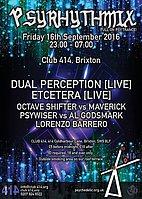 Party flyer: Psyrhythmix Party 16 Sep '16, 23:00h