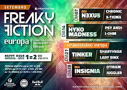 Party flyer: FREAKY FICTION 28 Sep '16, 23:00