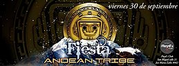 Party flyer: Fiesta - ANDEAN TRIBE - 30 Sep '16, 22:00