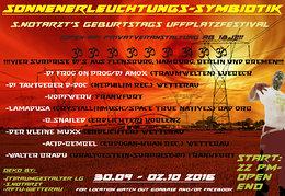 Party flyer: Sonnenerleuchtungs-Symbiotik 30 Sep '16, 22:00