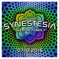 Party flyer: 8 Jahre Synestesia 7 Oct '16, 22:00
