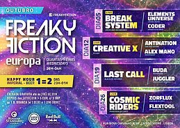 Party flyer: FREAKY FICTION 12 Oct '16, 23:00