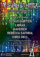 Party flyer: Psyrhythmix 21 Oct '16, 23:00