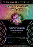 Party flyer: Unity Trance Collective - Psychedelic Trance Gathering 21 Oct '16, 22:00