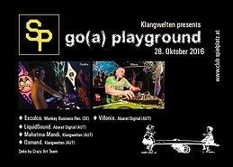 Party flyer: Go(a) playground pres. Exculco 28 Oct '16, 22:00