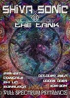 Party flyer: Shiva Sonic @ The Tank 28 Oct '16, 23:00