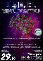 Party flyer: LED - Mind Control 29 Oct '16, 22:00