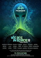 Party flyer: WE ARE IN SPACE-6-indoor festival 11 Nov '16, 18:30h