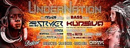 Party flyer: UnderNation - Psychedelic new Opening in Barcelona !!! (SALA BECOOL) 5 Dec '16, 23:30
