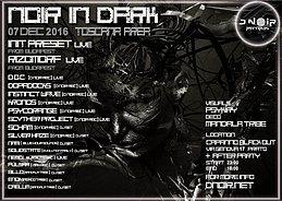 Party flyer: Noir In Dark 7 Dec '16, 22:00