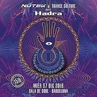 Party flyer: Trance Culture present Nutek invite Hadra 7 Dec '16, 23:30