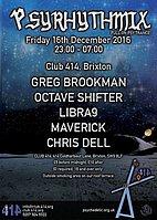 Party flyer: Psyrhythmix 16 Dec '16, 23:00