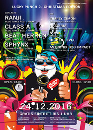 Party flyer: Lucky Punch 2 - Christmas Edition 24 Dec '16, 23:00