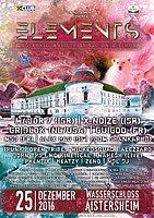 Party flyer: ELEMENTS FESTIVAL Aistersheim Wasserschloss 25 Dec '16, 21:00