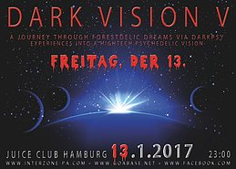 Party flyer: DARK VISION V - FREITAG, DER 13. 13 Jan '17, 23:00