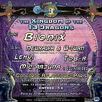 Party flyer: THE KINGDOM OF THE THIRTEEN DRAGONS 13 Jan '17, 23:30