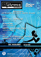 Party flyer: Biogenika - Artrance Records meets Stairs 14 Jan '17, 23:00