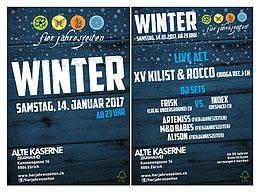 Party flyer: Fierjahreszeiten Winterparty 14.01.2017 alte Kaserne ab 23:00 14 Jan '17, 23:00