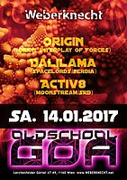 Party flyer: Oldschool Goa Party @ Weberknecht 14 Jan '17, 22:00