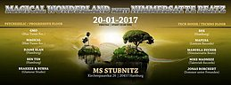 Party flyer: ॐ Magical Wonderland ॐ meets Nimmersatte Beatz (Paul's Birthday) 20 Jan '17, 23:00
