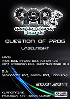 Party flyer: Progressive Tunes w/ Question of Prog Records 20 Jan '17, 23:00