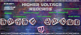 Party flyer: Higher Voltage Records Label-Party I 21 Jan '17, 20:00