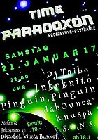 Party flyer: Time Paradoxon 21 Jan '17, 22:00