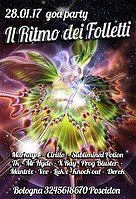 Party flyer: IL RITMO DEI Folletti 28 Jan '17, 23:00