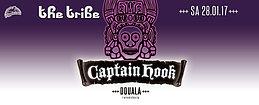 Party flyer: The Tribe ◉ CAPTAiN HOOK (Iboga Records, Tel Aviv Israel) ॐ♩✿ ♫ 28 Jan '17, 22:00