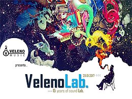 Party flyer: VELENO LAB. # 15 years of Sound Lab. 28 Jan '17, 21:00