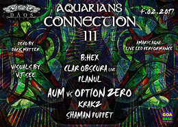 Party flyer: Aquarians Connection 3 4 Feb '17, 22:00