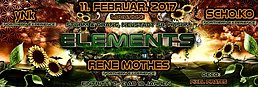 Party flyer: Elements - yNk, Scho.ko, Rene Mothes 11 Feb '17, 23:00