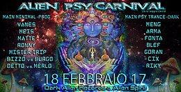 Party flyer: Alien Psy Carnival 18 Feb '17, 23:30