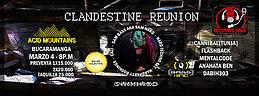 Party flyer: CLANDESTINE REUNION 4 Mar '17, 22:00