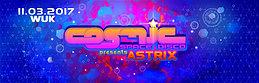 Party flyer: Cosmic Space Disco pres. Astrix live 11 Mar '17, 22:00