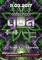 Party flyer: Oldschool Goa Party @ Weberknecht 11 Mar '17, 22:00