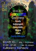 Party flyer: Büdgeloch 18 Feb '17, 21:00