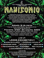 Party flyer: MANICOMIO 18 Mar '17, 18:00