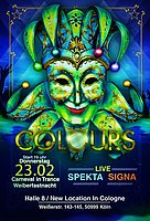Party flyer: COLOURS // Carneval in Trance // Weiberfastnacht 2017 23 Feb '17, 19:00