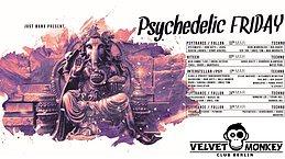 Party flyer: psychedelic Friday w/ Akuschrauber, Djane Nina ,SCHKM uvm 24 Mar '17, 23:00