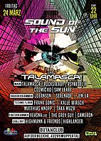 Party flyer: Sound of the Sun / Spring Season Opening 2017 / Talamasca Live 24 Mar '17, 22:00